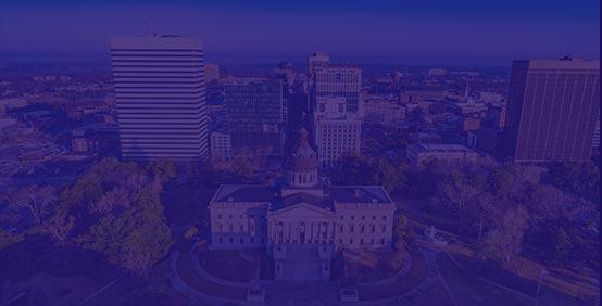 Columbia South Carolina skyline where Kaplan Accounting Continuing Education seminars are held