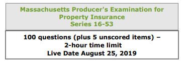 Massachusetts Producers Exam for Property Insurance Listing