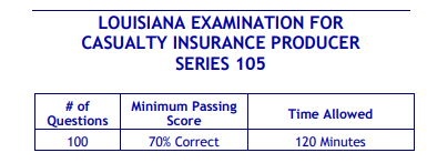 Louisiana Casualty Insurance Series 105