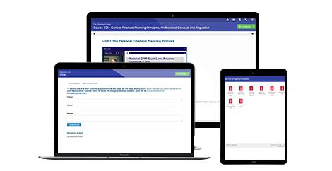 A free CFP exam prep review demo product.