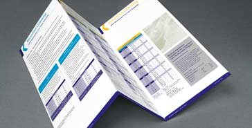 Trifold brochure of Minnesota class schedule displaying the current course schedule.