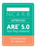 NCARB Approved ARE Construction and Evaluation Exam Test Prep Study Materials Badge