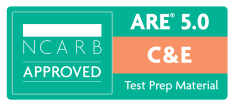 NCARB Approved ARE Construction and Evaluation Exam Test Prep Study Material Badge