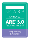 NCARB Approved ARE Programming Analysis Exam Test Prep Study Material Badge