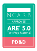 NCARB Approved ARE Project Development and Documentation Exam Test Prep Study Material Badge