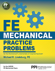 FE Mechanical Practice Problems Book Cover