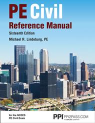 PE Civil Reference Manual Book Cover Image
