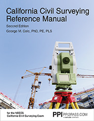 PE Civil California Surveying Reference Manual Book Cover