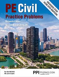 PE Civil Practice Problems Book Cover
