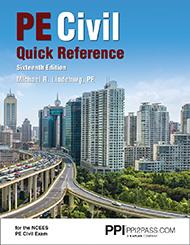 PE Civil Quick Reference Book Cover