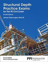 PE Civil Structural Depth Practice Exams Book Cover