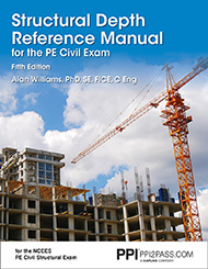 PE Civil Structural Depth Reference Manual Book Cover
