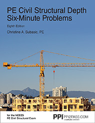 PE Civil Structural Six-Minute Problems Book Cover Image