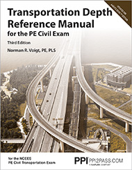 PE Civil Transportation Depth Reference Manual Book Cover