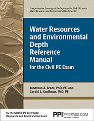 PE Civil Water Resources Depth Reference Manual Book Cover