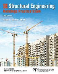 SE Structural Engineering Buildings Practice Exam Fifth Edition Book Cover