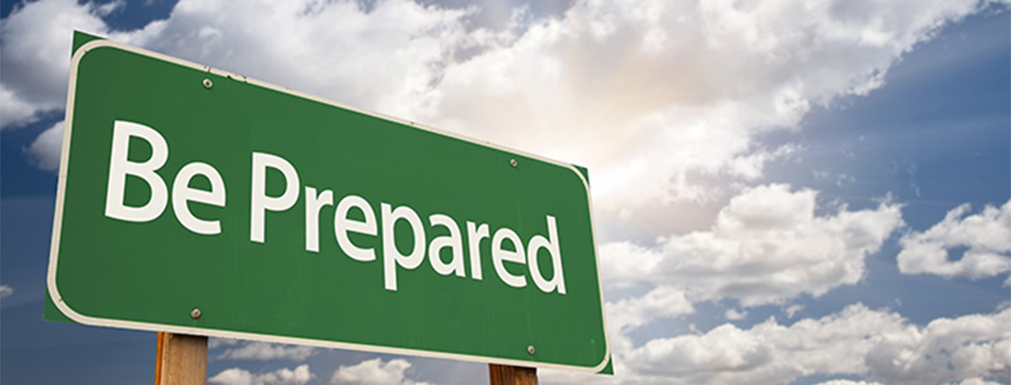 A conceptual graphic warning to be prepared by using the Level I CAIA exam day preparation tips