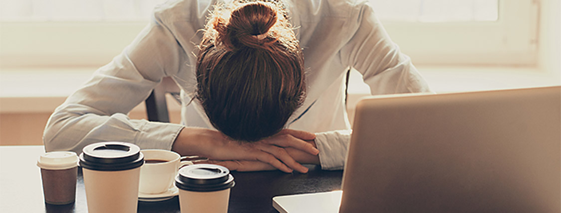 Woman frustrated after failing the CFA Exam
