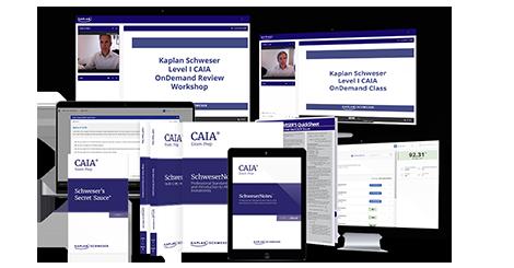 Schweser's Premium Package for the Level I CAIA exam