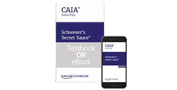 Schweser's CAIA Level II Secret Sauce in eBook and Print formats