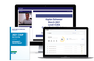 Schweser's Online Review Workshop Package for the CAIA Level I exam.