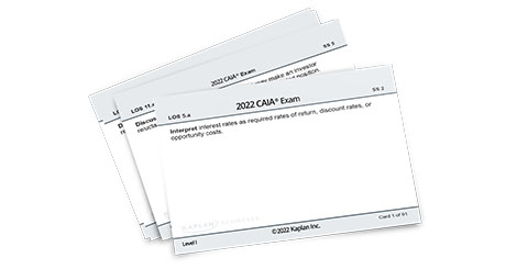 Kaplan Schweser's Flashcards for Level 1 of the CAIA exam