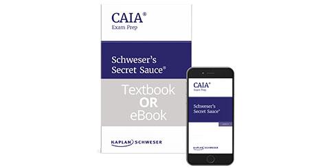Kaplan Schweser's Secret Sauce for Level 2 of the CAIA exam