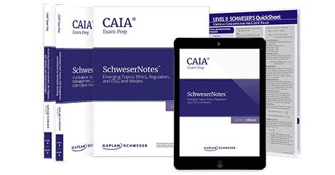 Kaplan Schweser's SchweserNotes & QuickSheet for Level 2 of the CAIA exam