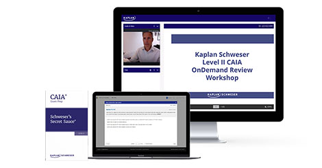Kaplan Schweser's OnDemand Review Workshop Package for Level 2 of the CAIA exam