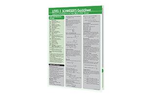 Kaplan Schweser's Quicksheet Sample