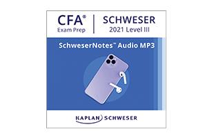 Kaplan Schweser's SchweserNotes™ Audio MP3s for Level III of the CFA exam