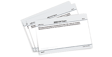 Kaplan Schweser's Flashcards for Level I of the 2022 CFA Exam