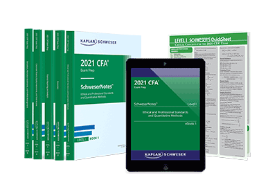 Kaplan Schweser's Level I SchweserNotes™ and Quicksheet