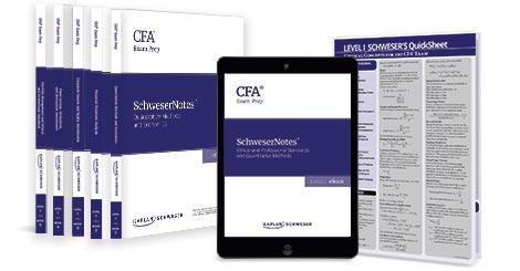 Kaplan Schweser's SchweserNotes for Level 1 of the CFA exam