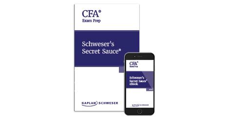 Kaplan Schweser's Secret Sauce for the Level 1 CFA exam