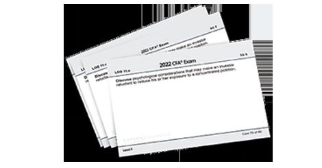 Kaplan's Schweser's Flashcards for Level I of the 2022 CFA Exam
