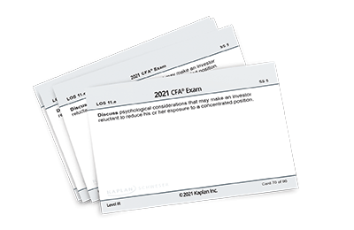 Set of printed flashcards from Schweser.